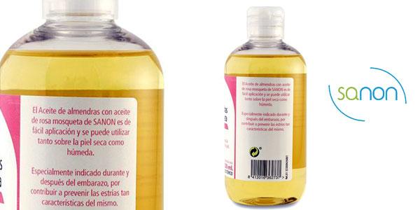 Pack de 2 unidades de aceite Sanon de almendras dulces con rosa mosqueta para rostro y cuerpo chollo en Amazon