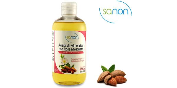 Pack de 2 unidades de aceite Sanon de almendras dulces con rosa mosqueta para rostro y cuerpo barato en Amazon