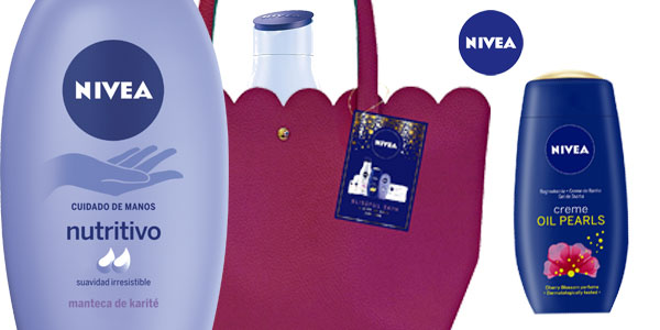 Pack Nivea Piel Feliz con regalo bolso tote color frambuesa chollo en Amazon