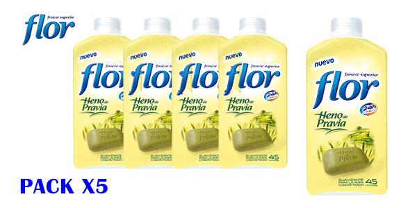 Pack de 5 botellas de Suavizante concentrado Flor fragancia Heno de Pravia para 225 lavados barato en Amazon