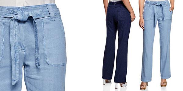 Chollo Pantalones Holgados Oodji Collection En Lino Y Viscosa Para Mujer Por Solo 17 90