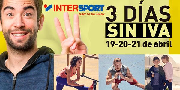 Promoción 3 Días sin IVA en Intersport