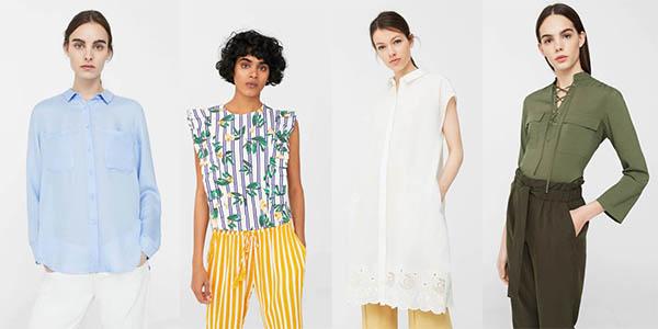 promoción con camisas en oferta en Mango Outlet