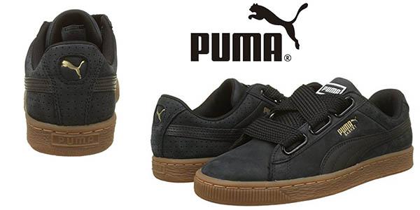 Puma Basket Heart Perf Gum zapatillas casuales para mujer baratas
