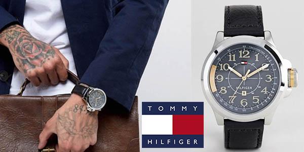 reloj analógico Tommy Hilfiger con correa de cuero barato