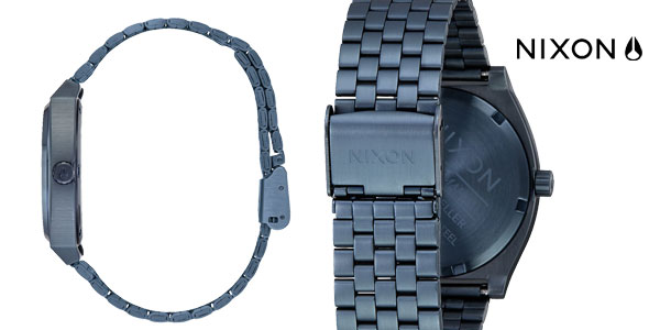 Reloj Nixon Time Teller All Blue/ Black Sunray 37 mm para hombre chollazo en Amazon