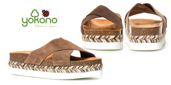 Sandalias planas Yokono Itaca de piel serraje para mujer chollazo en eBay