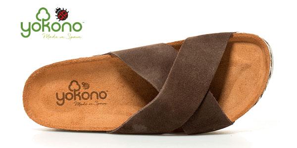 Sandalias planas Yokono Itaca de piel serraje para mujer chollo en eBay