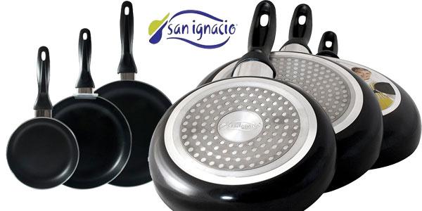 Pack 3 Sartenes San Ignacio de aluminio prensado chollo en eBay España