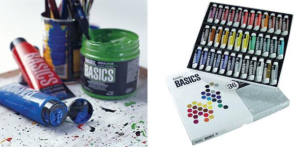 set de pintura acrílica de 36 colores Liquitex Basics barato