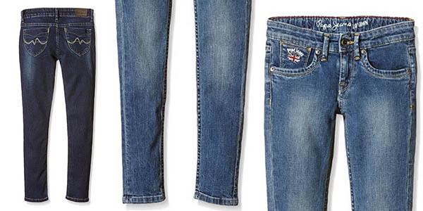 tejanos de corte slim Pepe Jeans London Pau en oferta