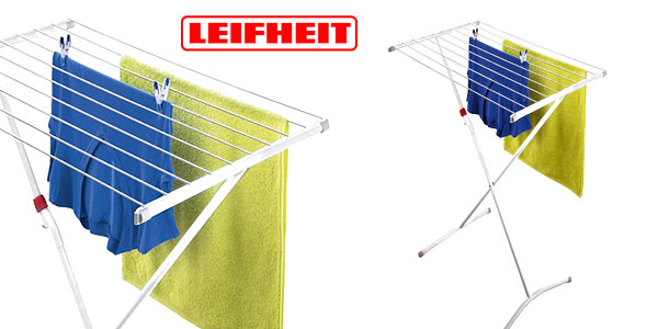 Tendedero Leifheit Classic 80 Easy con alas de metal super plegable barato en Amazon