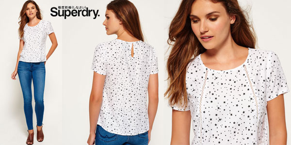 Top estampado Superdry Claudie Ditsy Star en color blanco para mujer barato en eBay