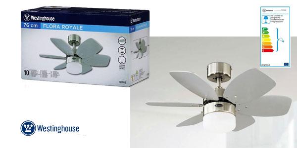 Westinghouse Flora Royale Ventilador de Techo E27, 60 W