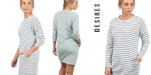 Vestidos camiseta de rayas Desires Helena oferta en Amazon