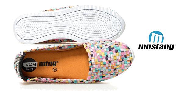 Zapatillas elásticas Mustang Tessell multicolor chollo en Amazon
