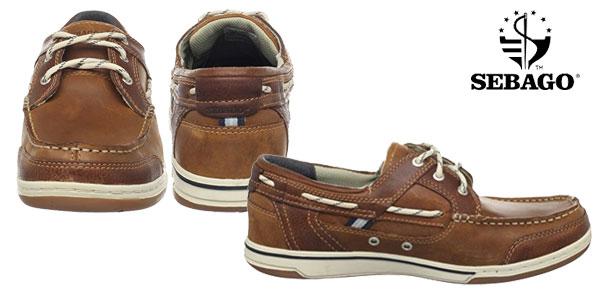 Zapatos náuticos Sebago TRITON THREE EYE en color marrón chollazo en Amazon
