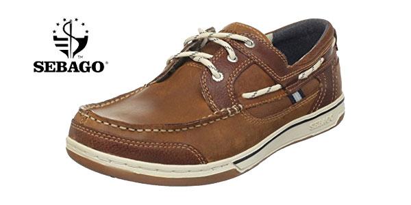 Zapatos náuticos Sebago TRITON THREE EYE en color marrón baratos en Amazon