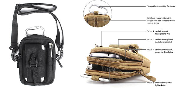bandolera compacta de gran funcionalidad ideal para viajes con varios bolsillos chollo