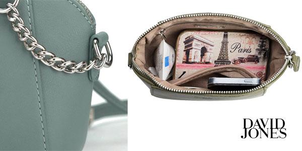 Bolso bandolera compacto de David Jones en 6 colores oferta en Amazon