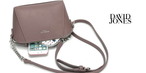Bolso bandolera compacto de David Jones en 6 colores chollazo en Amazon