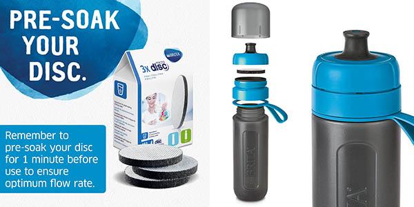 botella Brita Fill&Go Active portátil ideal para el gimnasio y excursiones chollo