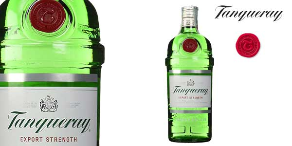 Botella Ginebra Tanqueray London Dry Gin de 1L barata en Amazon