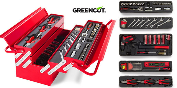 Caja de herramientas Greencut Tools 118 de acero cromo vanadio barata