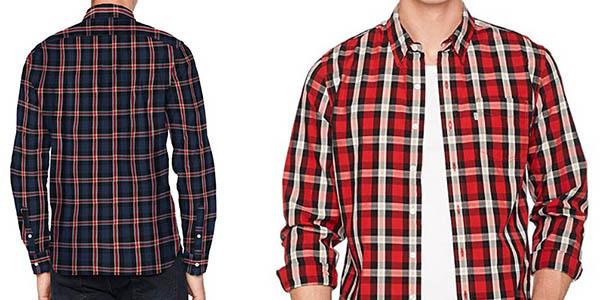 camisa Levi's Sunset Pocket de algodón estampado de cuadros en oferta
