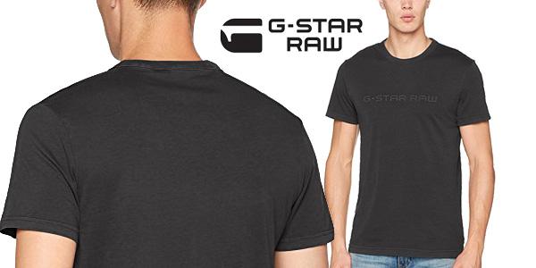 Camiseta G-STAR RAW Alijom Regular R T S/S de manga corta para hombre chollo en Amazon