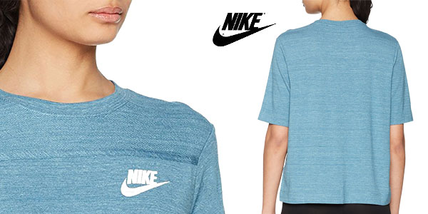 Camiseta Nike Women's Sportswear Advance 15 Top de manga corta para mujer chollo en Amazon