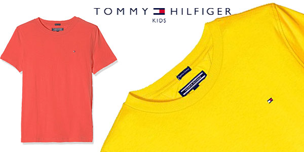 Camiseta Tommy Hilfiger AME Original para niños en 4 colores chollo en Amazon