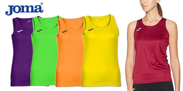 Camiseta Joma Diana de tirantes en varios colores para mujer barata en Amazon