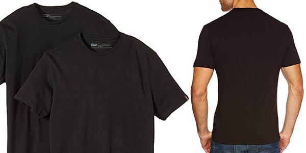 camisetas de algodón de manga corta Levi's Crew en oferta
