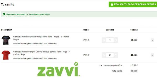 camisetas infantiles en promoción en Zavvi
