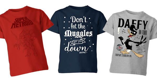 camisetas infantiles con diseño videojuegos y Disney en promoción 2x1 en Zavvi