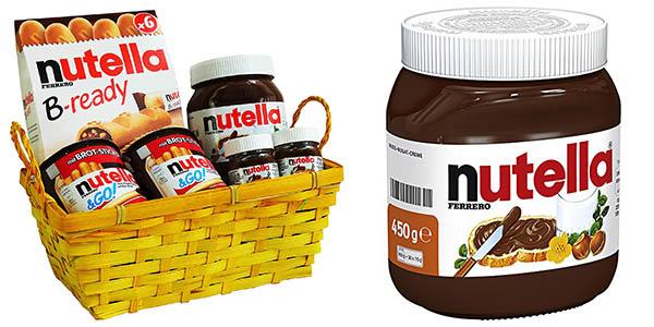 cesta de productos Nutella baratos
