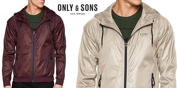 Chaqueta con capucha Only & Sons para hombre barata