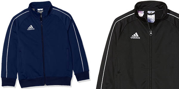 chaqueta de chándal infantil Adidas Core18 en oferta