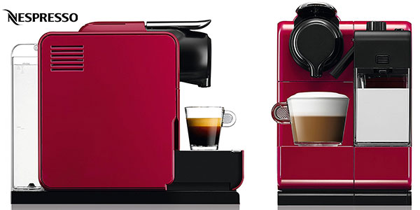 Chollo Cafetera de cápsulas Nespresso DeLonghi Lattissima Touch de color rojo