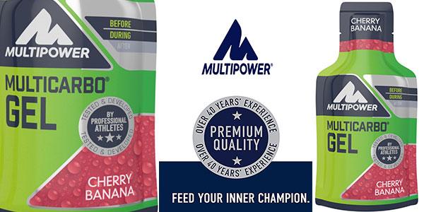 Chollo Gel de nutrición Multipower Multicarbo de cereza y plátano (24 uds)