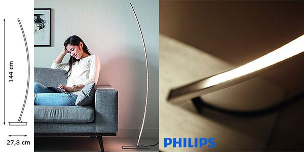 Chollo Lámpara de pie Philips MyLiving Hexagon de luz blanca cálida no regulable