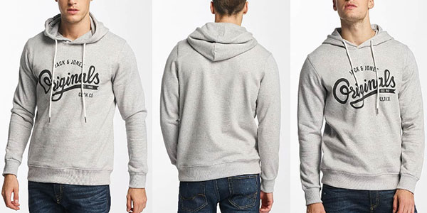 Chollo Sudadera Jack & Jones Jorhawl Sweat Hood con capucha para hombre