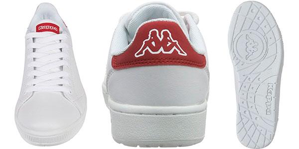 Chollo Zapatillas deportivas Kappa Court Footwear unisex de color blanco/rojo