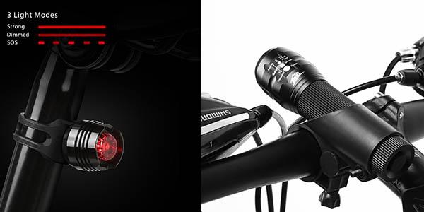 conjunto de luces para bicicleta HIHill chollo