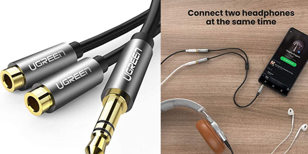 Divisor de auriculares Ugreen 3.5 mm barato Amazon