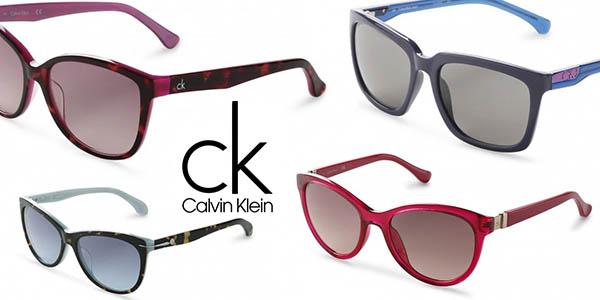 gafas de sol Calvin Klein para mujer baratas