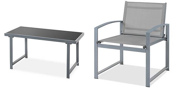 mobiliario de terraza con sillas mesa y sofá de diseño contemporáneo chollo