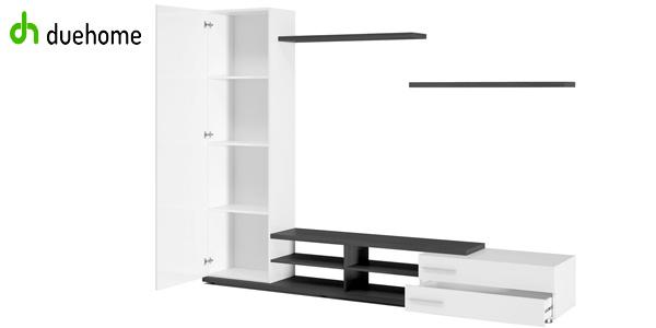Mueble de salón comedor Adhara de duehome en color blanco y ceniza chollazo en eBay