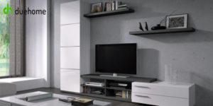 Mueble de salón comedor Adhara de duehome en color blanco y ceniza barato en eBay